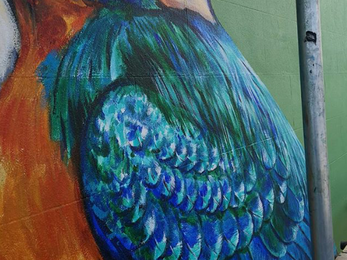 Kingfisher mural in lowestoft