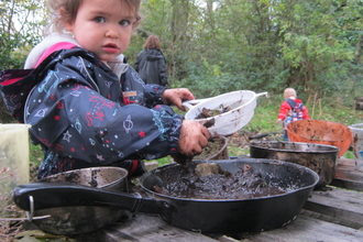 Wild Tots mud kitchen