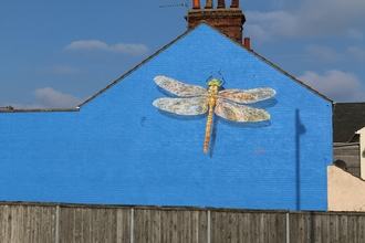 Dragonfly mural in Lowestoft