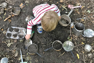 Wild tots mud kitchen Suffolk Wildlife Trust