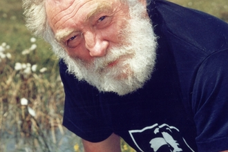David Bellamy at Meathop Moss Nature Reserve in 1998 (The Wildlife Trusts)