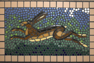 Mosaic Hare by Joy Holden