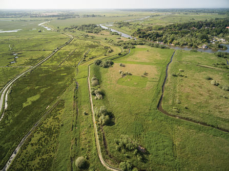 Aerial view of Carlton Marshes by John Lord